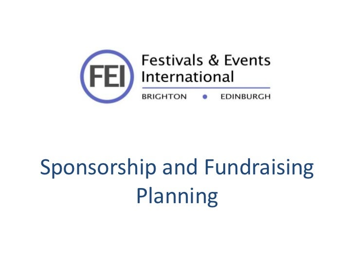 Sponsorship and Fundraising         Planning