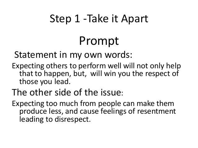 Five paragraph essay about respect