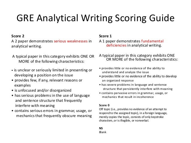Analytical writing gre samples essays