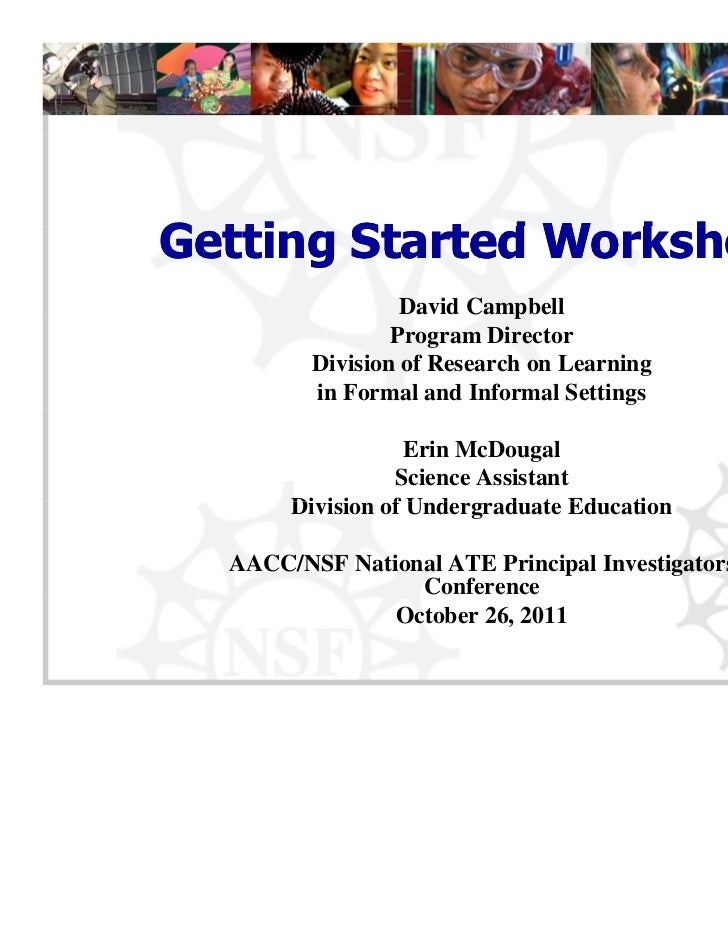 Getting Started WorkshopG tti   St t d W k h                  David Campbell                             p                ...