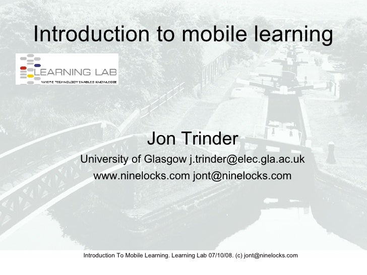 Introduction to Mobile Learning