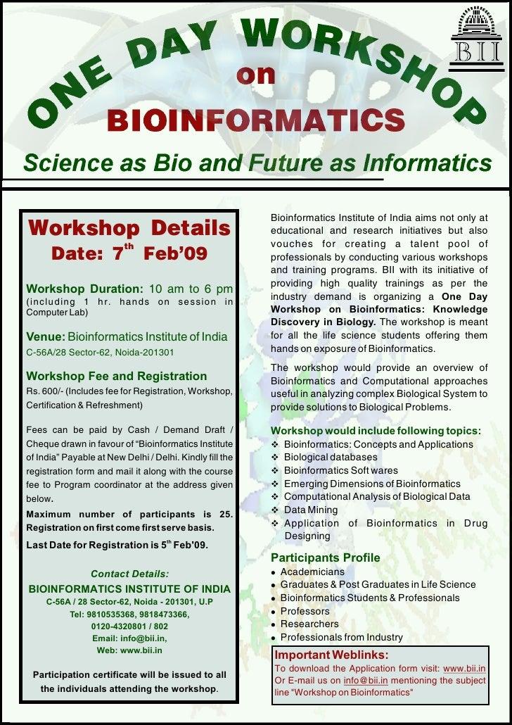 Workshop Bioinformatics