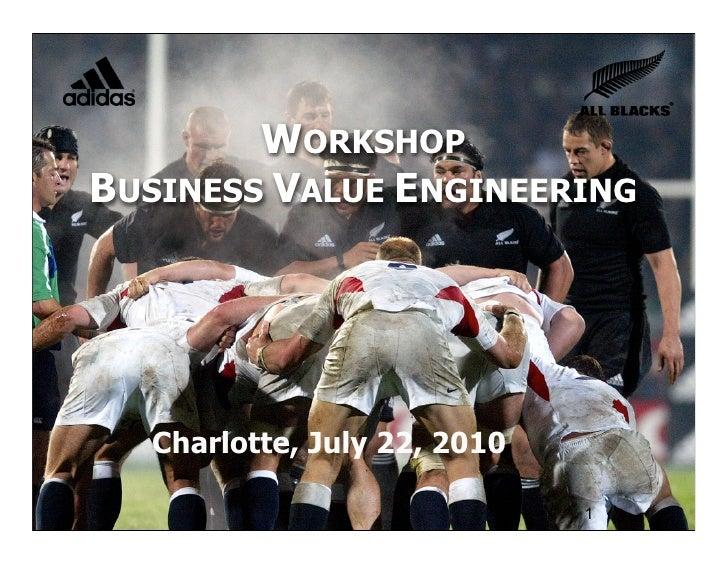 Workshop BV Engineering SFA July 2010
