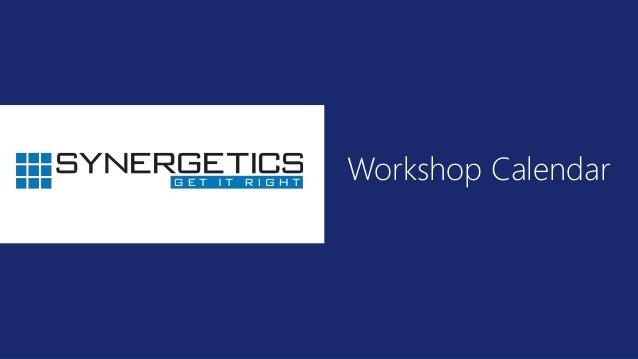 Emerging Technology Training Calendar