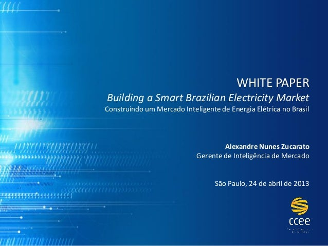 Workshop White Paper - 24/04/2013