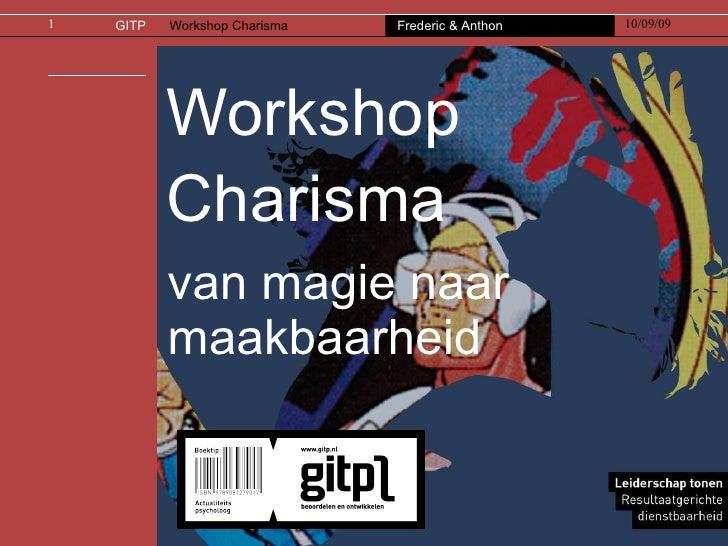 Workshop Charisma van magie naar maakbaarheid