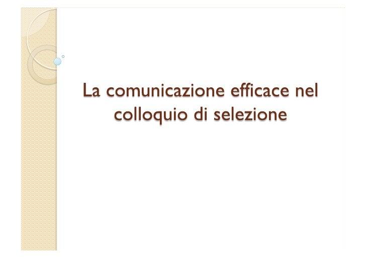 Workshop comunicazione