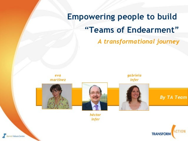 "Empowering people to build               ""Teams of Endearment""                    A transformational journey  eva         ..."