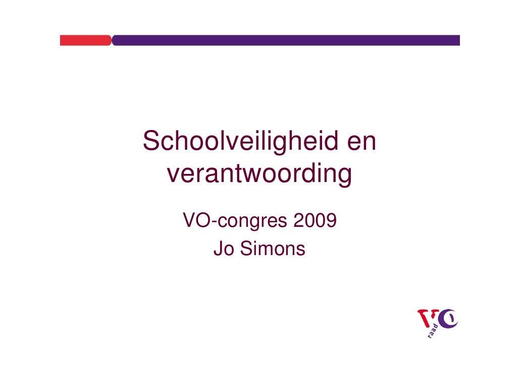 Workshop C Veiligheid Op Scholen, Incidentenregistratie En Incidentenbehandeling