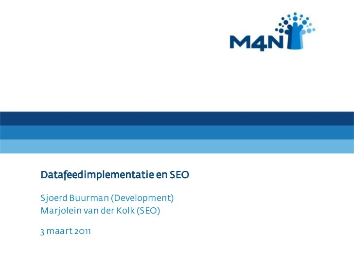 Workshop Datafeeds en Seo