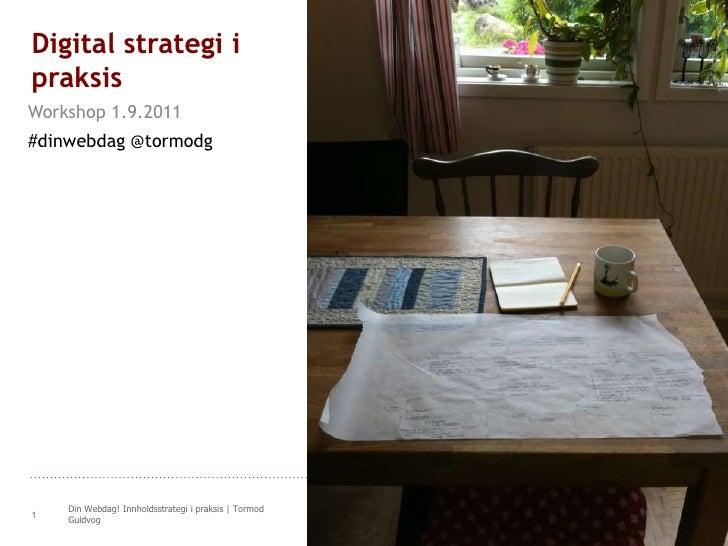 Workshop i digital strategi på Din Webdag