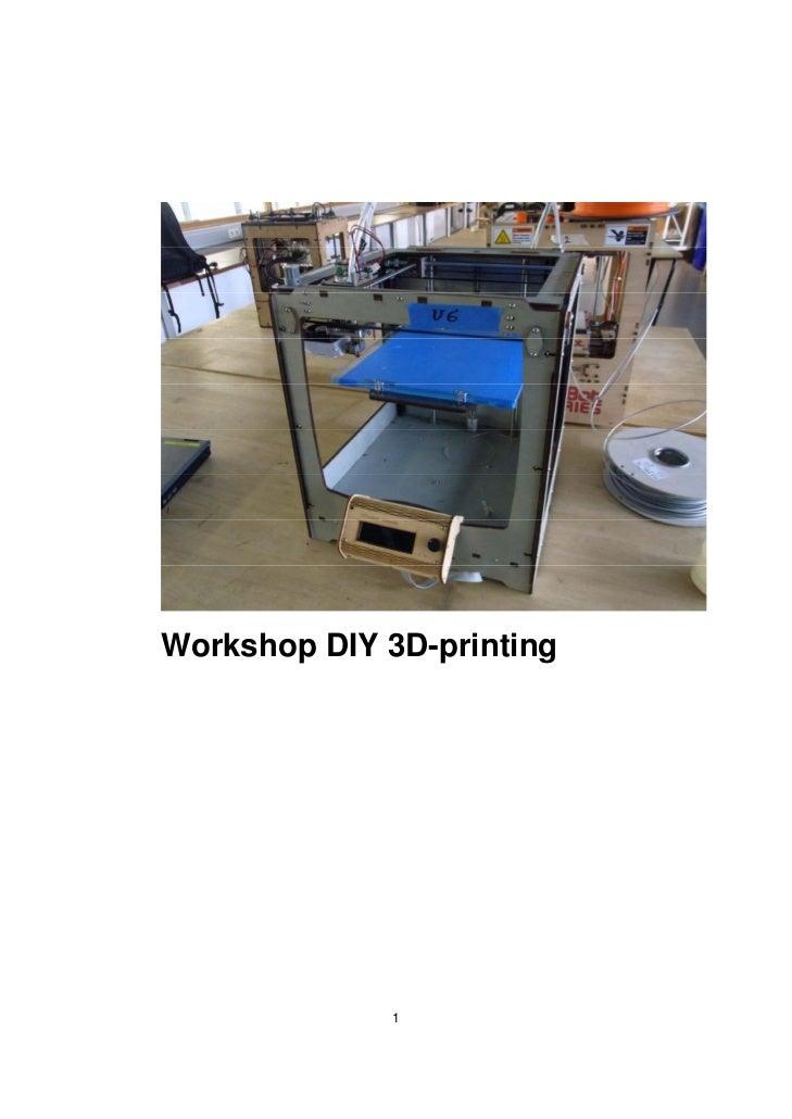Workshop DIY 3D-printing             1