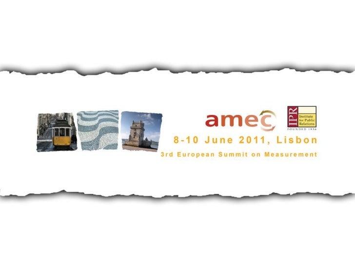 AMEC's New Valid Metrics