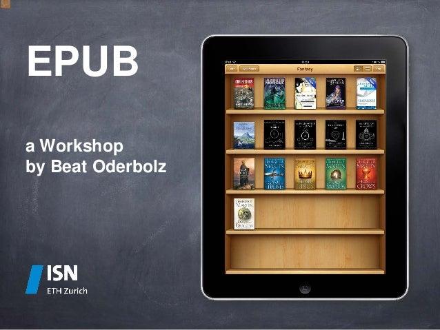 EPUB - a workshop for beginners