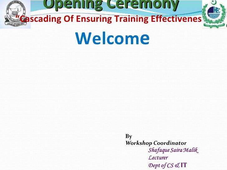 Workshop ensuring traiung effectiveness