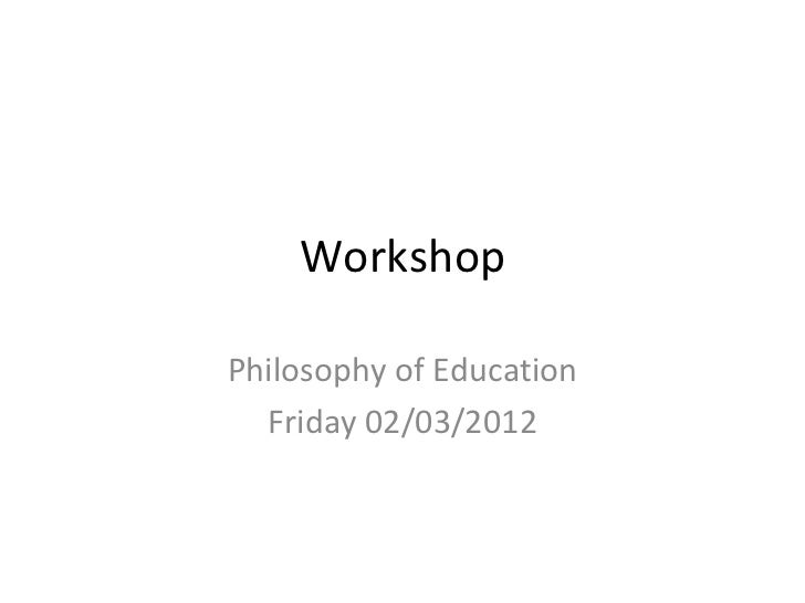 Workshop friday 1400 1445