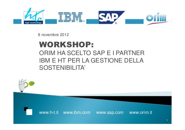 Workshop a Ecomondo 8 novembre  ht orim
