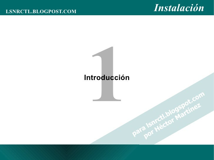 Administración de Oracle - Tema 01 - Introducción