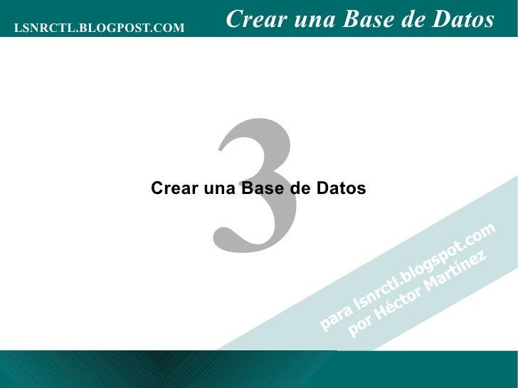 Crear una Base de Datos 3