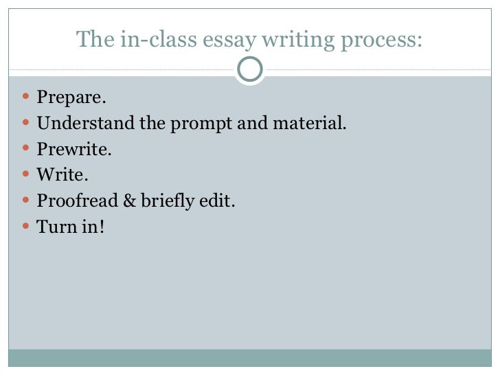 How to prepare for and write a good in class essay?
