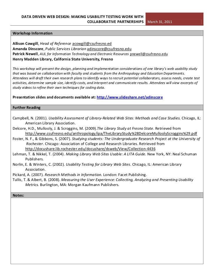 ACRL 2011 Workshop Info Handout