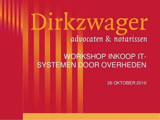 Workshop inkoop IT-systemen door overheden