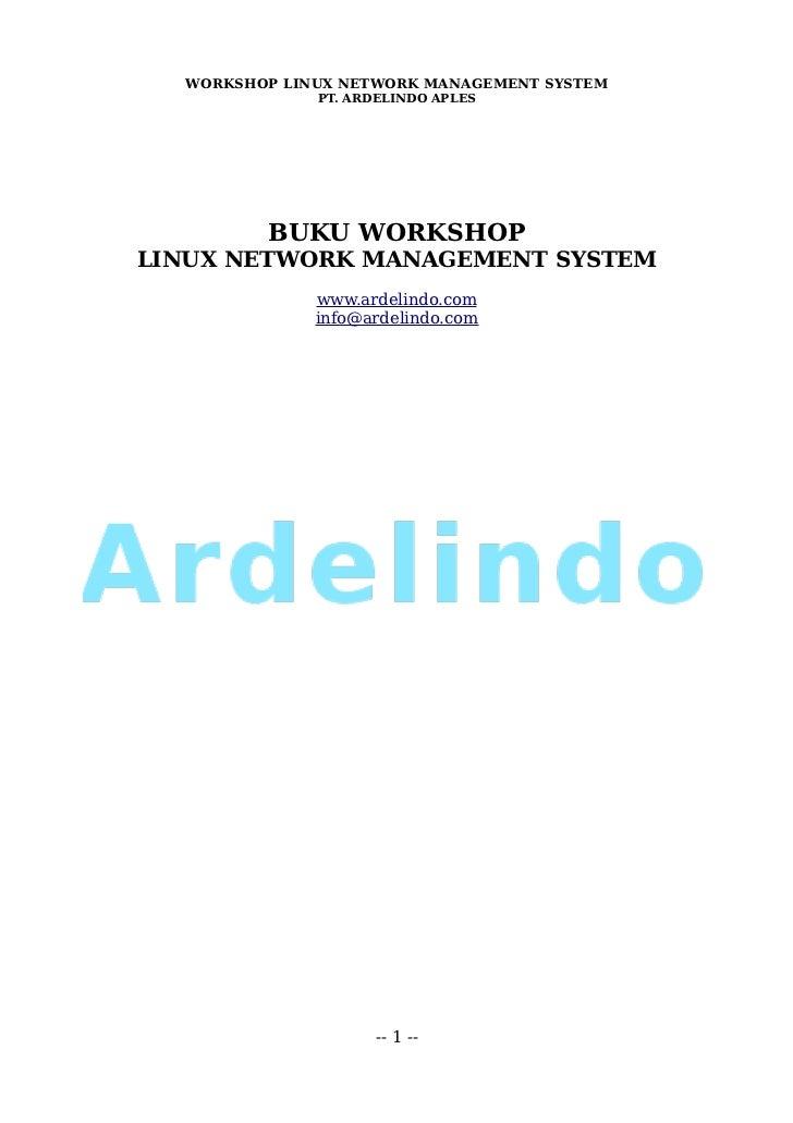 Workshop linux network management system