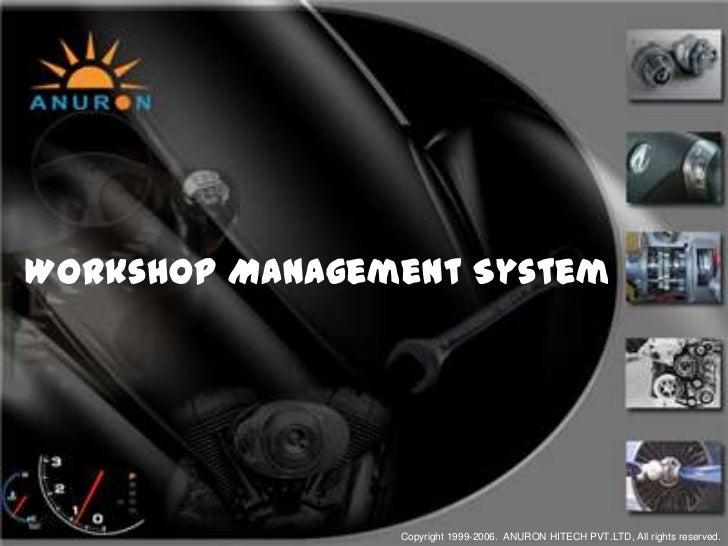 Workshop Management Software