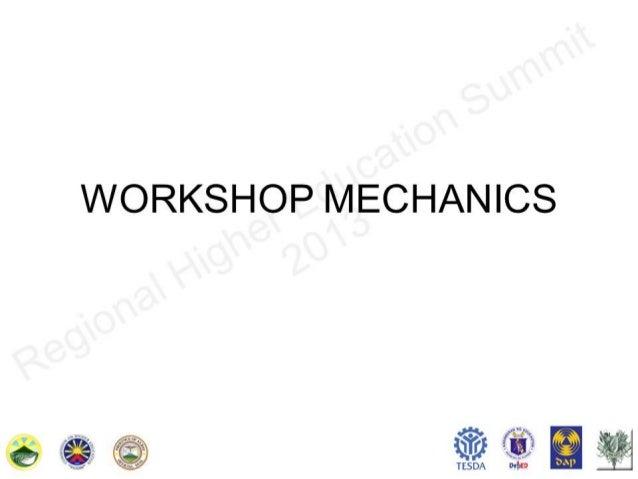 Workshop mechanics