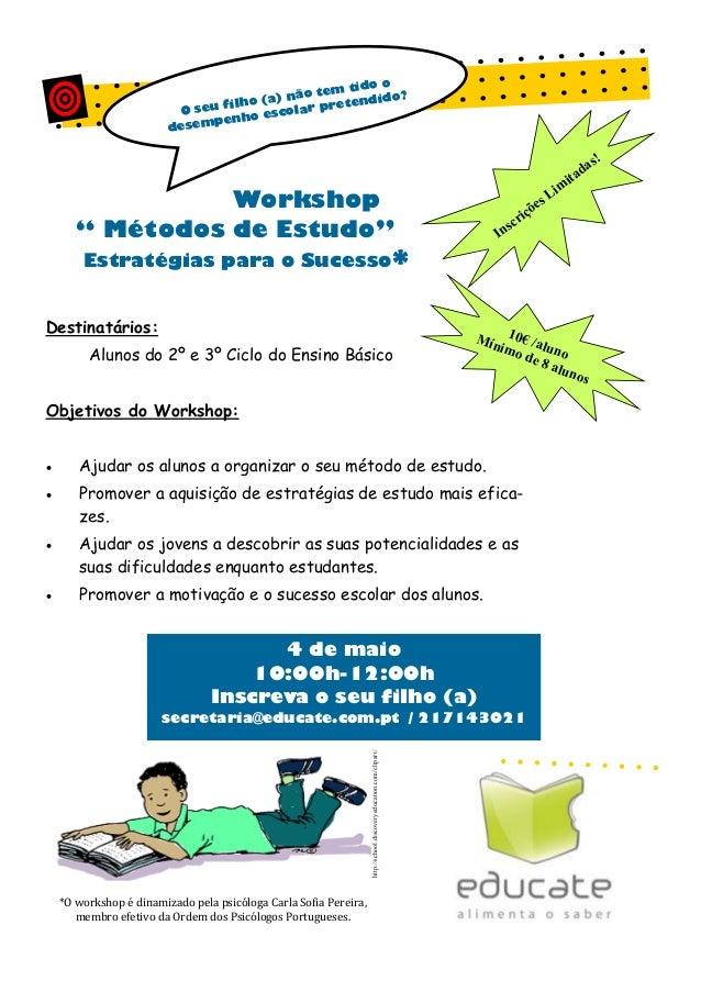 Workshop métodos de estudo (pais)