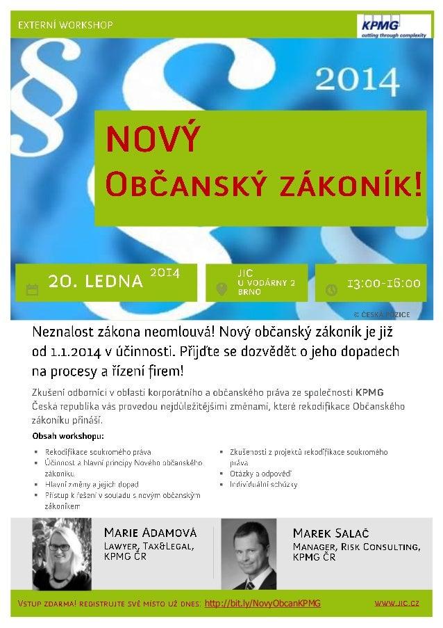 Workshop: Nový občanský zákoník