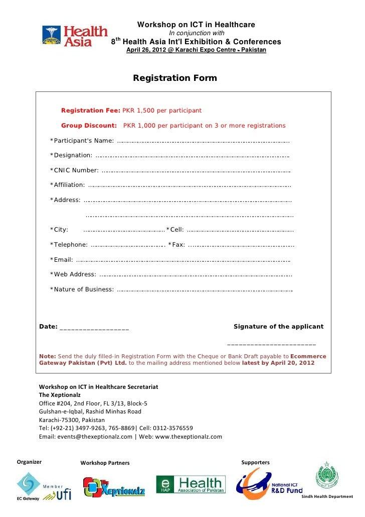 Workshop Registration Form Registration Form