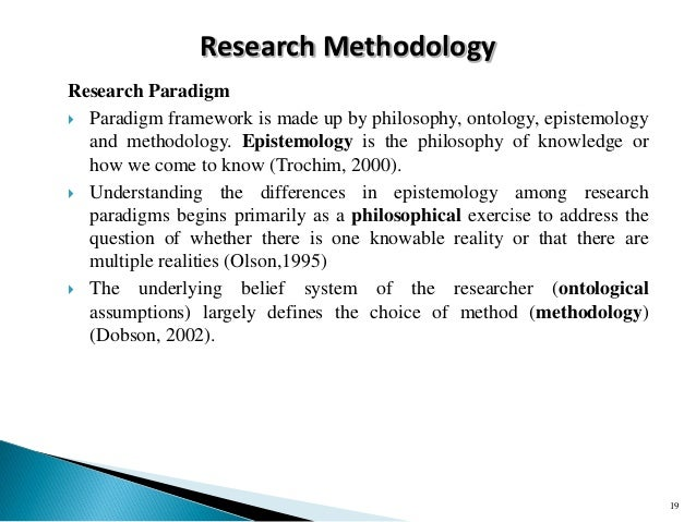 Framework Research Methodology Research Methodology Research