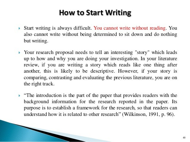 how to start a research paper The person who did the work and wrote the paper is generally listed as the first author of a research paper 2 start by writing a summary that includes.