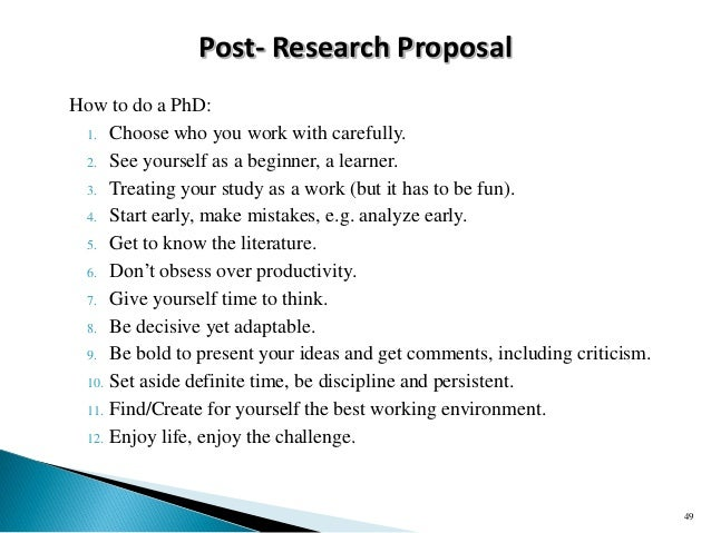 Do phd research proposal