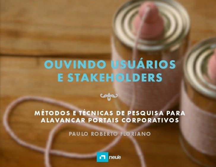 Workshop: Ouvindo usuários e stakeholders