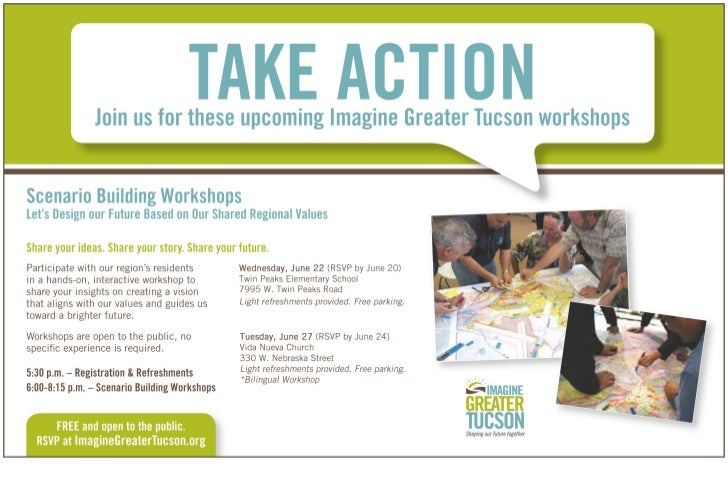 Imagine Greater Tucson/ IGTucson June Workshop Postcard