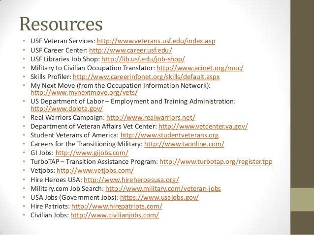 Resume for veterans service representative
