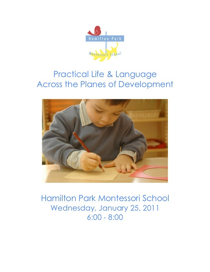 Workshop Booklet: Practical Life and Language Across the Planes - HPMS