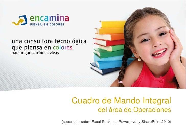 Cuadro de Mando Integral                    del área de Operaciones(soportado sobre Excel Services, Powerpivot y SharePoin...
