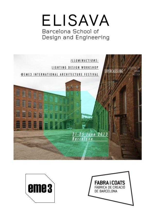 Lighting Desing Workshop programme eme3 en