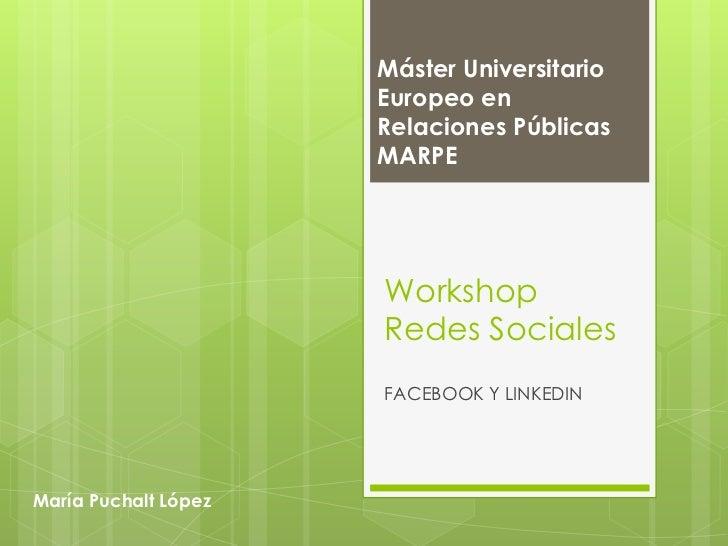 Workshop Redes Sociales MARPE