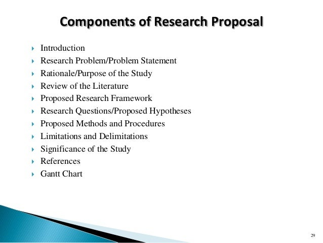 Rationale in research proposal