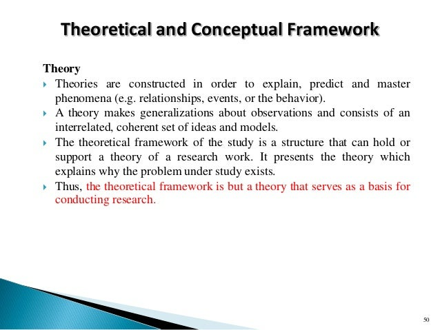 Framework of research proposal