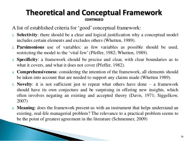 Choosing A Theoretical Framework For Dissertation