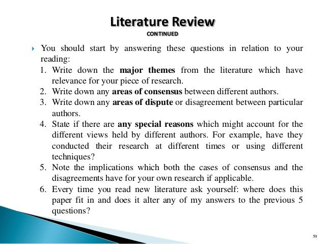 I am stuck doing a literature review for a phd proposal, any advice on where to start?