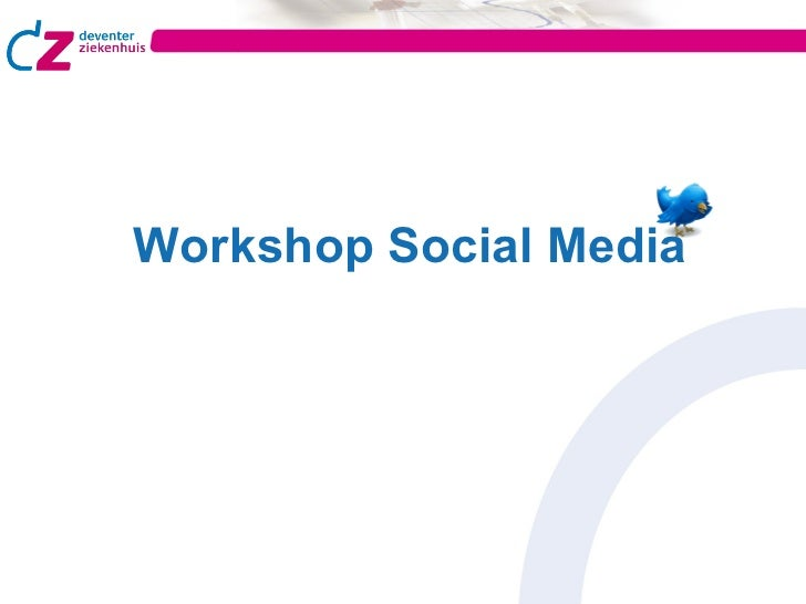 Workshop Social Media