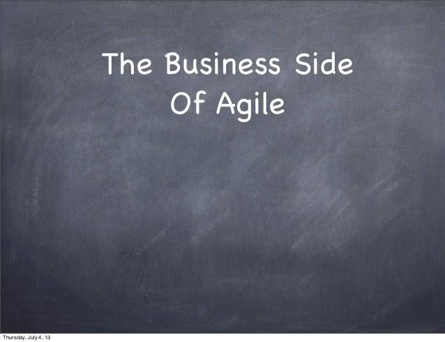 Workshop the business side of agile