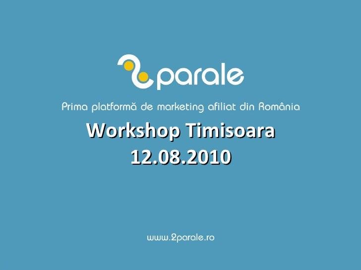 Workshop Timisoara 12.08.2010