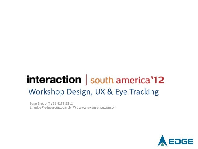 Workshop Design, UX and Eye-Tracking